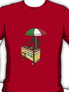 Italian Ice Push Cart Retro T-Shirt