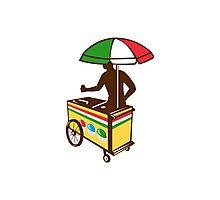 Italian Ice Push Cart Retro Photographic Print