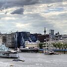 HMS Belfast  & French barque Belem  by Victoria limerick