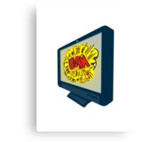 LCD Plasma TV Television Blam Canvas Print