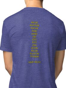 Thirteen Dwarves and a Hobbit Tri-blend T-Shirt