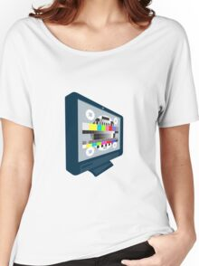 LCD Plasma TV Television Test Pattern Women's Relaxed Fit T-Shirt