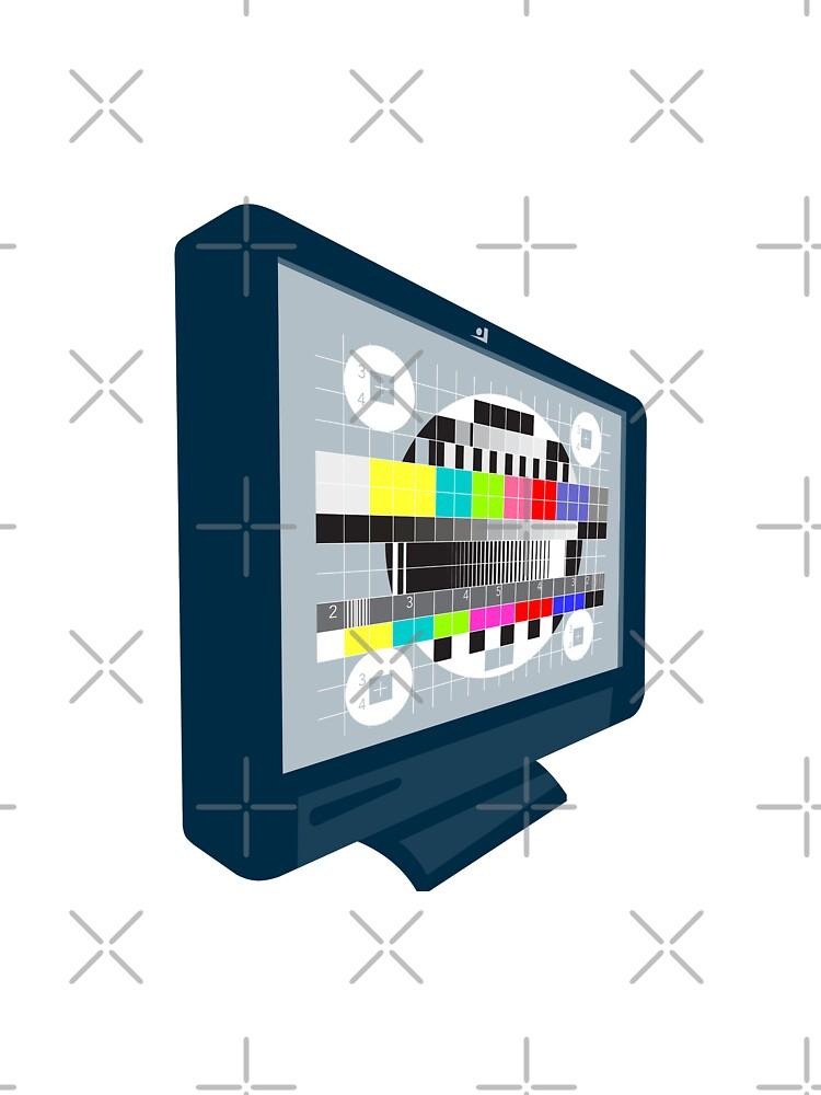 LCD Plasma TV Television Test Pattern by patrimonio