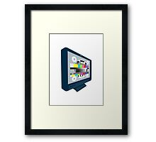 LCD Plasma TV Television Test Pattern Framed Print