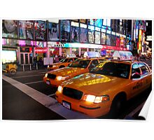 Taxi Cab Reflections Poster