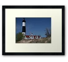 Big Sable on duty at Lake MI Framed Print