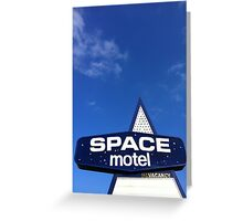 space motel  Greeting Card