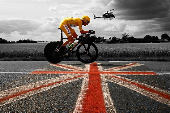 Bradley Wiggins, Tour de France Champion 2012 by Eamon Fitzpatrick
