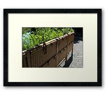 Kyoto Garden Fence Framed Print