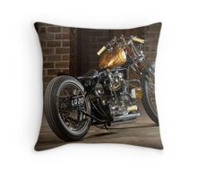 Stuart's Retro Triumph Bobber Throw Pillow