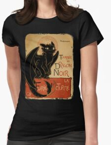 Le Dragon Noir Womens Fitted T-Shirt