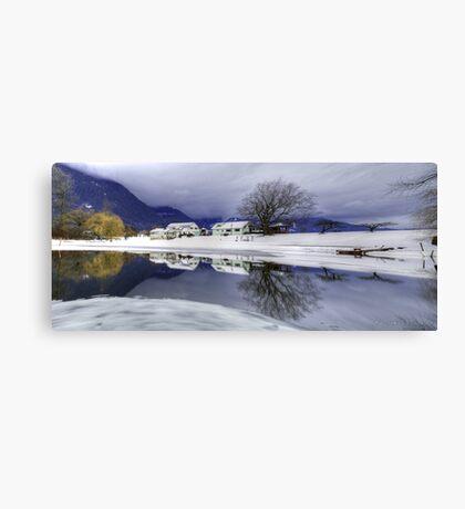 Percy Farm in Winter Canvas Print