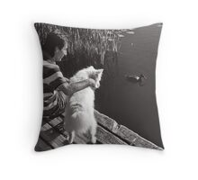 Trout Lake Throw Pillow
