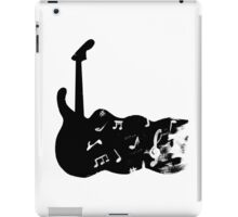 black and white guitar iPad Case/Skin