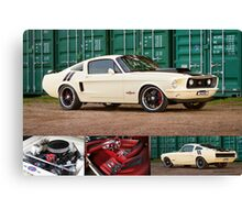 Ziggy's Hot Rods Ford Mustang - Poster Canvas Print