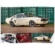 Ziggy's Hot Rods Ford Mustang - Poster Poster