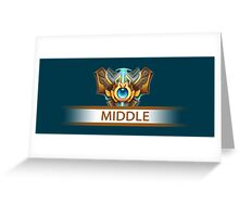 Middle badge Greeting Card