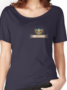 Middle badge Women's Relaxed Fit T-Shirt