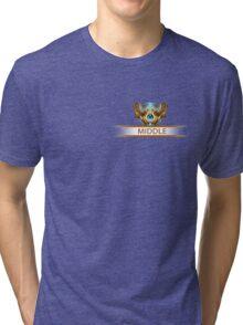 Middle badge Tri-blend T-Shirt