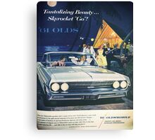A vintage Oldsmobile advertising Canvas Print