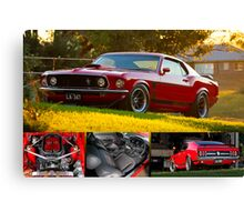 Laurie Attard's 1970 Ford Mustang - Poster Canvas Print