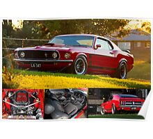 Laurie Attard's 1970 Ford Mustang - Poster Poster