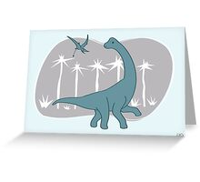 Giraffatitan and Rhamphorynchus Greeting Card
