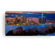 Glow of Detroit Canvas Print