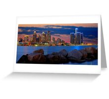 Glow of Detroit Greeting Card