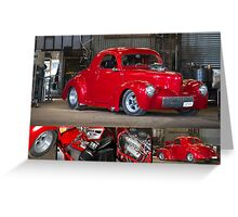 Chris Hickman's Willy's Hot Rod - Poster Greeting Card