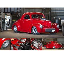 Chris Hickman's Willy's Hot Rod - Poster Photographic Print