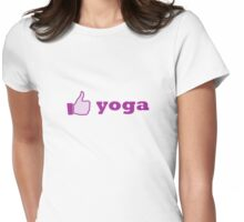 like yoga - girly Womens Fitted T-Shirt