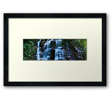 Sylvia Falls, Blue Mountains, New South Wales, Australia Framed Print