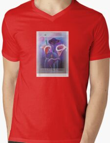 Birthday Wishes Greeting Card with Lilac Calla Lilies Mens V-Neck T-Shirt