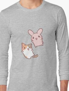 kitten and bunny  Long Sleeve T-Shirt