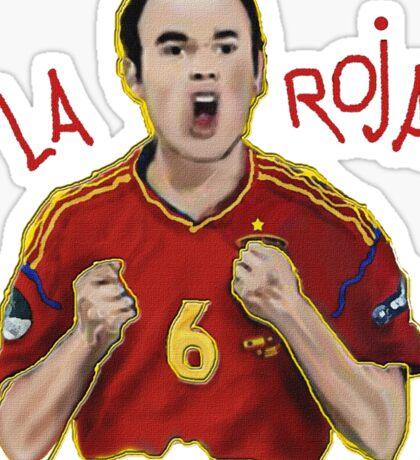 La Roja-Iniesta Sticker