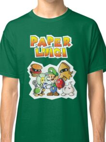 Paper Luigi Colored Classic T-Shirt