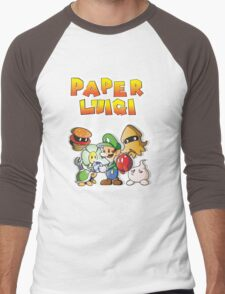 Paper Luigi Colored Men's Baseball ¾ T-Shirt