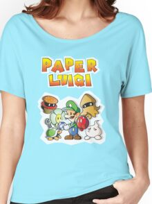 Paper Luigi Colored Women's Relaxed Fit T-Shirt