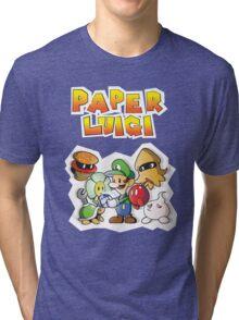 Paper Luigi Colored Tri-blend T-Shirt