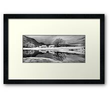 Percy Farm in Black and White Framed Print