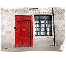 Red Door Welcome Poster
