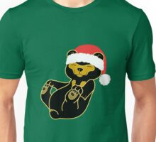 Christmas Sun Bear with Red Santa Hat Unisex T-Shirt