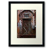 Brick and Wood Framed Print