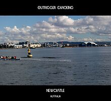 Outrigger Canoeing On Newcastle Harbour by reflector