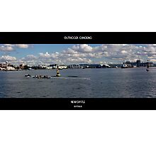 Outrigger Canoeing On Newcastle Harbour Photographic Print