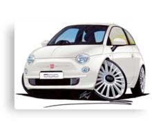 New Fiat 500 White Canvas Print