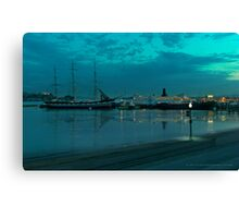 Reflections on the Bay Canvas Print