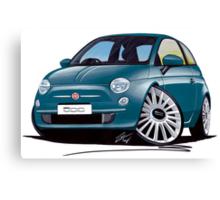 New Fiat 500 Jive Blue Canvas Print