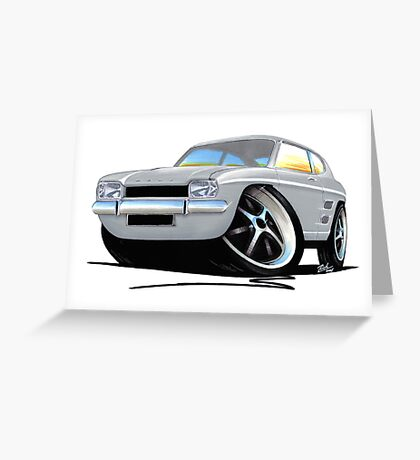 Ford Capri (Mk1) Silver Greeting Card